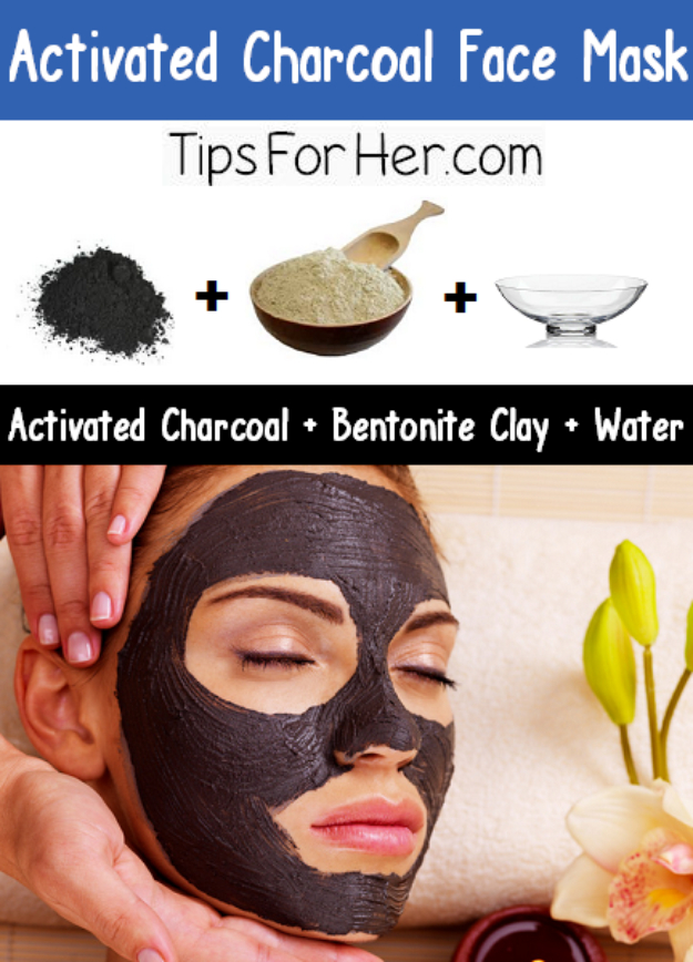 DIY Beauty Hacks - Activated Charcoal Face Mask - Cool Tips for Makeup, Hair and Nails - Step by Step Tutorials for Fixing Broken Makeup, Eye Shadow, Mascara, Foundation - Quick Beauty Ideas for Best Looks in A Hurry http://diyjoy.com/diy-beauty-hacks