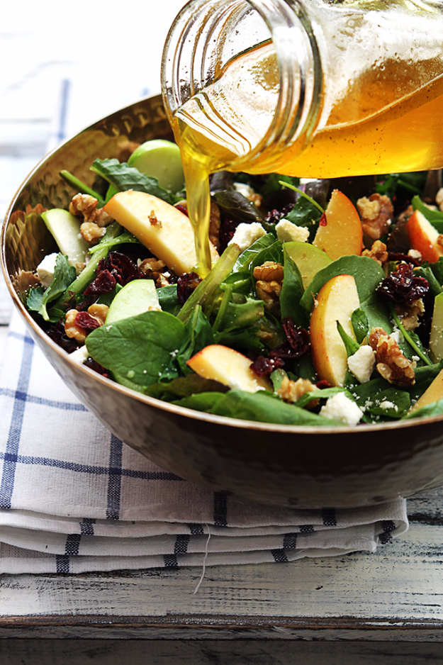 Easy Thanksgiving Recipes - Apple Cranberry Walnut Salad - Best Simple and Quick Recipe Ideas for Thanksgiving Dinner. Cranberries, Turkey, Gravy, Sauces, Sides, Vegetables, Dips and Desserts - DIY Cooking Tutorials With Step by Step Instructions - Ideas for A Crowd, Parties and Last Minute Recipes http://diyjoy.com/easy-thanksgiving-recipes