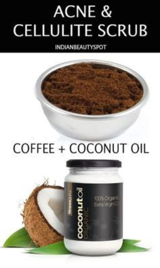 DIY Beauty Hacks - Banish Cellulite With Coffee Scrub - Cool Tips for Makeup, Hair and Nails - Step by Step Tutorials for Fixing Broken Makeup, Eye Shadow, Mascara, Foundation - Quick Beauty Ideas for Best Looks in A Hurry http://diyjoy.com/diy-beauty-hacks