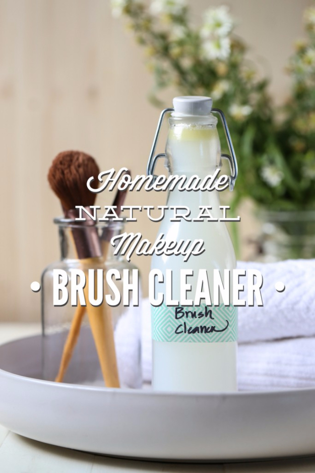 DIY Beauty Hacks - Homemade Natural Make Up Brush Cleaner - Cool Tips for Makeup, Hair and Nails - Step by Step Tutorials for Fixing Broken Makeup, Eye Shadow, Mascara, Foundation - Quick Beauty Ideas for Best Looks in A Hurry http://diyjoy.com/diy-beauty-hacks