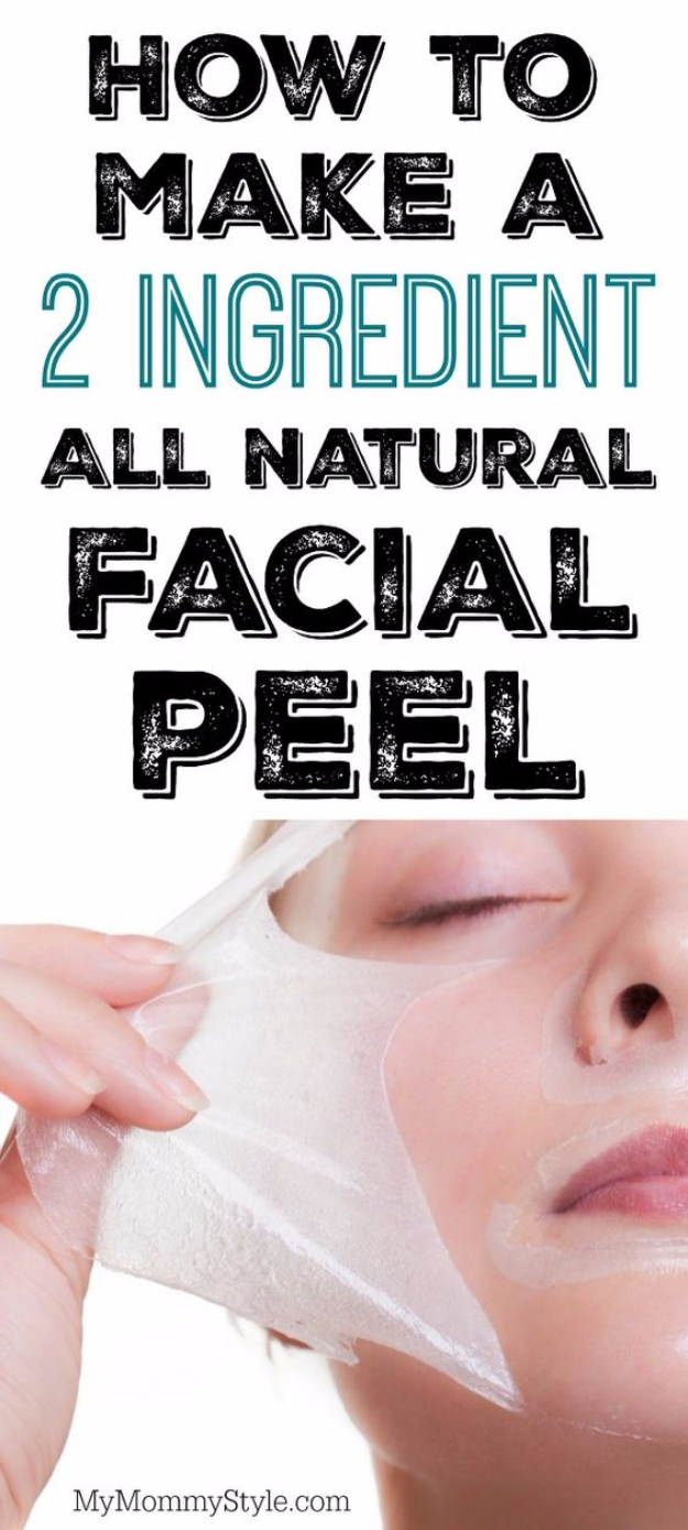 DIY Beauty Hacks - Make A 2 Ingredient All Natural Facial Peel - Cool Tips for Makeup, Hair and Nails - Step by Step Tutorials for Fixing Broken Makeup, Eye Shadow, Mascara, Foundation - Quick Beauty Ideas for Best Looks in A Hurry http://diyjoy.com/diy-beauty-hacks