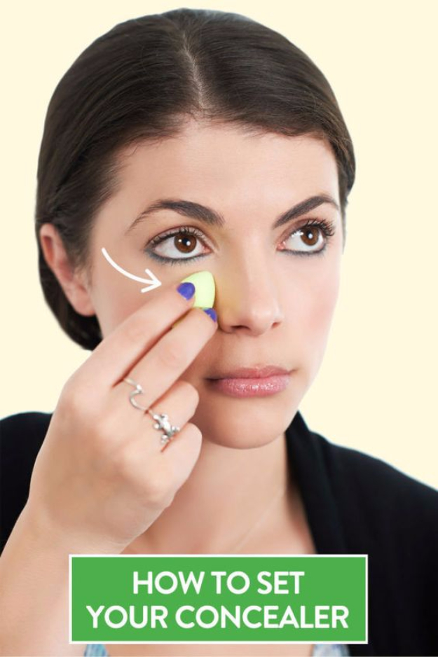 DIY Beauty Hacks - Stop Under Eye Concealer Creasing - Cool Tips for Makeup, Hair and Nails - Step by Step Tutorials for Fixing Broken Makeup, Eye Shadow, Mascara, Foundation - Quick Beauty Ideas for Best Looks in A Hurry http://diyjoy.com/diy-beauty-hacks