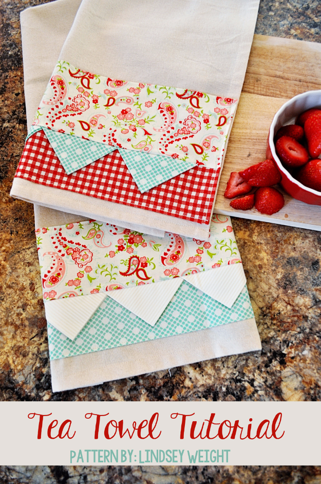 DIY Gifts To Sew For Friends - Tea Towel - Quick and Easy Sewing Projects and Free Patterns for Best Gift Ideas and Presents - Creative Step by Step Tutorials for Beginners - Cute Home Decor, Accessories, Kitchen Crafts and DIY Fashion Ideas http://diyjoy.com/diy-gifts-to-sew-for-friends