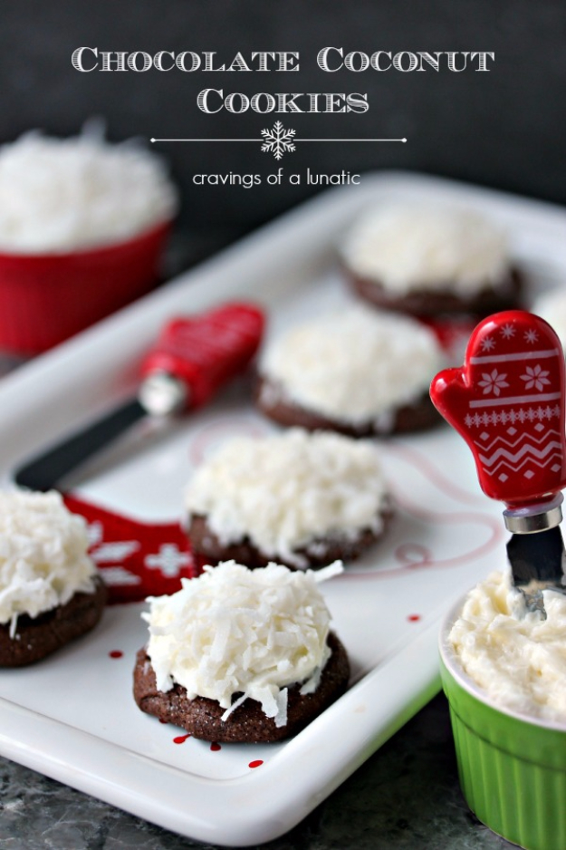 Best Recipes for Christmas Cookies- Chocolate Coconut Cookies - Easy Decorated Holiday Cookies - Candy Cookie Recipes Ideas for Kids - Traditional Favorites and Gluten Free and Healthy Versions - Quick No Bake Cookies and Last Minute Desserts for the Holidays http://diyjoy.com/best-christmas-cookie-recipes