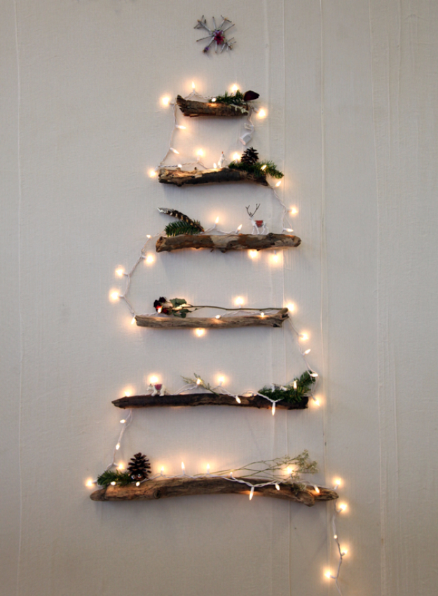 Cool Ways To Use Christmas Lights - DIY Alternative Christmas Tree - Best Easy DIY Ideas for String Lights for Room Decoration, Home Decor and Creative DIY Bedroom Lighting - Creative Christmas Light Tutorials with Step by Step Instructions - Creative Crafts and DIY Projects for Teens and Adults http://diyjoy.com/cool-ways-to-use-christmas-lights
