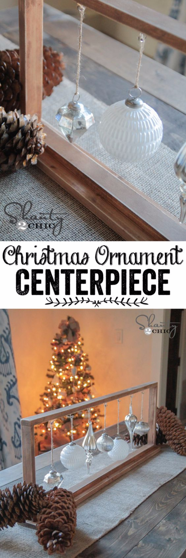 DIY Christmas Centerpieces - DIY Christmas Ornament Centerpiece - Simple, Easy Holiday Decorating Ideas on A Budget - Cheap Home and Table Decor for The Holidays - Dollar Store Crafts, Rustic Candles, Pine Cones, Floral Ideas and Mason Jar Craft Projects http://diyjoy.com/diy-christmas-centerpieces
