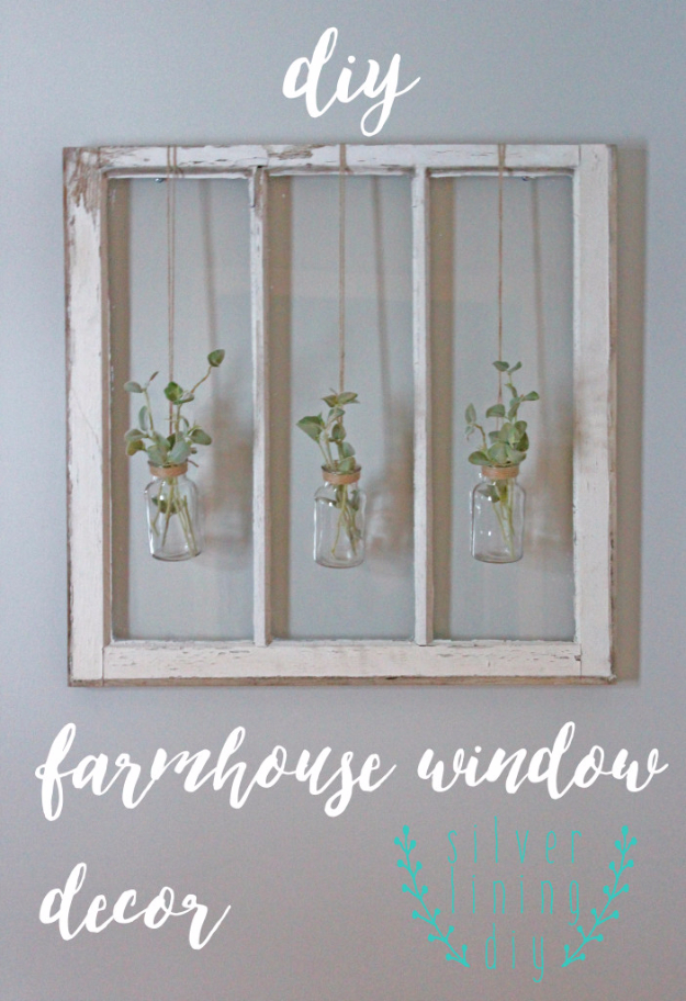 DIY Farmhouse Style Decor Ideas for the Bedroom - DIY Farmhouse Window Decor - Rustic Farm House Ideas for Furniture, Paint Colors, Farm House Decoration for Home Decor in The Bedroom - Wall Art, Rugs, Nightstands, Lights and Room Accessories http://diyjoy.com/diy-farmhouse-decor-bedroom