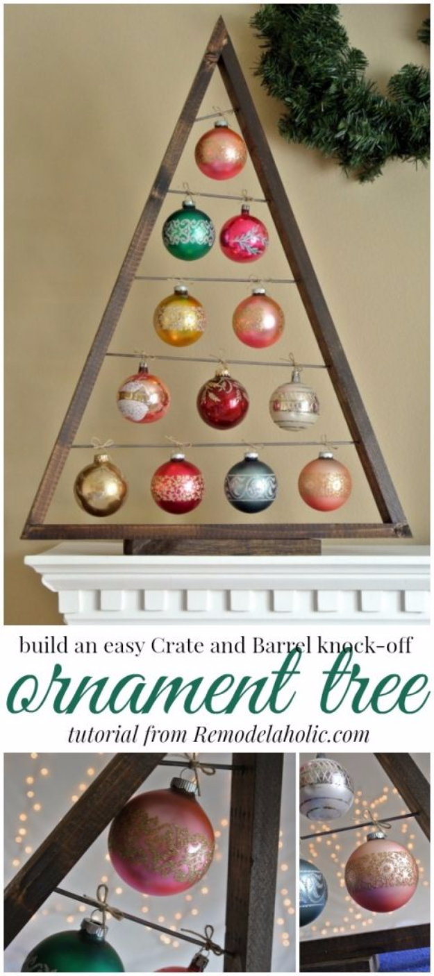 Best DIY Ideas for Your Christmas Tree - DIY Ornament Display Tree - Cool Handmade Ornaments, DIY Decorating Ideas and Ornament Tutorials - Cheap Christmas Home Decor - Xmas Crafts #christmas #diy #crafts
