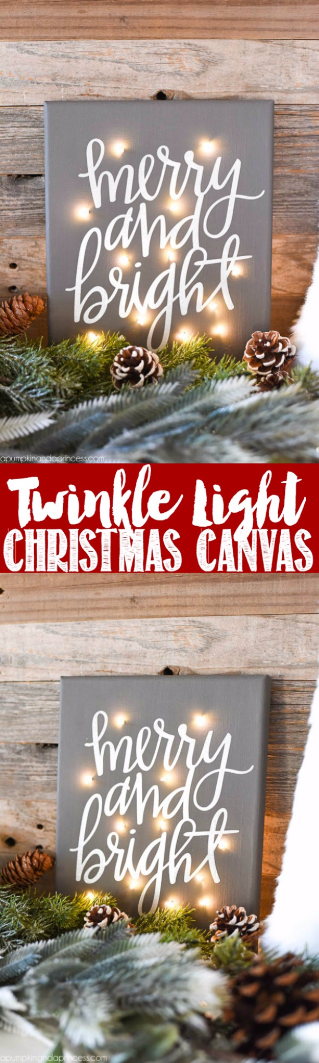 Cool Ways To Use Christmas Lights - DIY Twinkle Light Christmas Canvas - Best Easy DIY Ideas for String Lights for Room Decoration, Home Decor and Creative DIY Bedroom Lighting - Creative Christmas Light Tutorials with Step by Step Instructions - Creative Crafts and DIY Projects for Teens and Adults http://diyjoy.com/cool-ways-to-use-christmas-lights