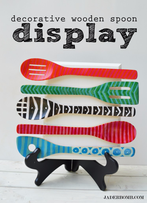 Best DIY Gifts for Neighbors - Decorative Wooden Spoon Display - Cute Mason Jar Crafts, Gift Baskets and Cheap and Easy Gift Ideas to Make for Friends - Do It Yourself Projects You Can Sew and Craft That Make Awesome DIY Gifts and Homemade Christmas Presents http://diyjoy.com/diy-gifts-friends-neighbors