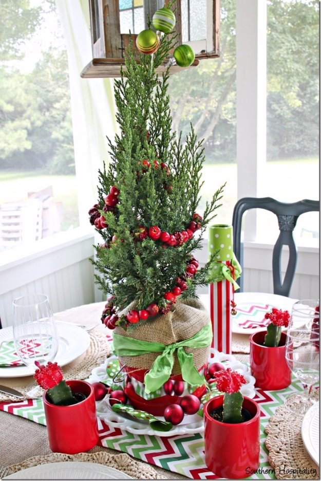 DIY Christmas Centerpieces - Fun And Festive Christmas Centerpiece - Simple, Easy Holiday Decorating Ideas on A Budget - Cheap Home and Table Decor for The Holidays - Dollar Store Crafts, Rustic Candles, Pine Cones, Floral Ideas and Mason Jar Craft Projects http://diyjoy.com/diy-christmas-centerpieces