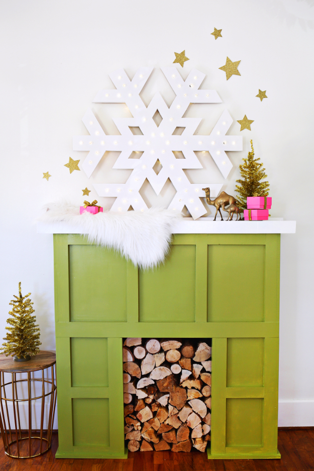 Best DIY Snowflake Decorations, Ornaments and Crafts - Giant Snowflake Marquee - Paper Crafts with Snowflakes, Pipe Cleaner Projects, Mason Jars and Dollar Store Ideas - Easy DIY Ideas to Decorate for Winter - Creative Home Decor and Room Decorations for Adults, Teens and Kids http://diyjoy.com/diy-projects-snowflakes