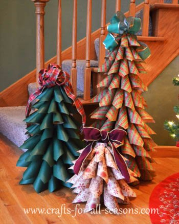 Best DIY Ideas for Your Christmas Tree - Paper Cone Trees - Cool Handmade Ornaments, DIY Decorating Ideas and Ornament Tutorials - Cheap Christmas Home Decor - Xmas Crafts #christmas #diy #crafts