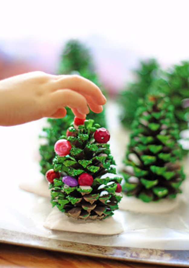 Best DIY Ideas for Your Christmas Tree - Pinecone Trees - Cool Handmade Ornaments, DIY Decorating Ideas and Ornament Tutorials - Cheap Christmas Home Decor - Xmas Crafts #christmas #diy #crafts