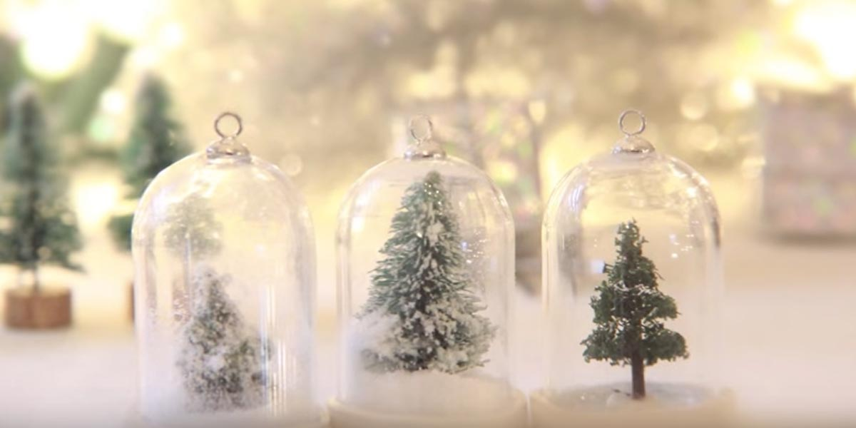 Watch How To Make A Beautiful Waterless Snow Globe Into A