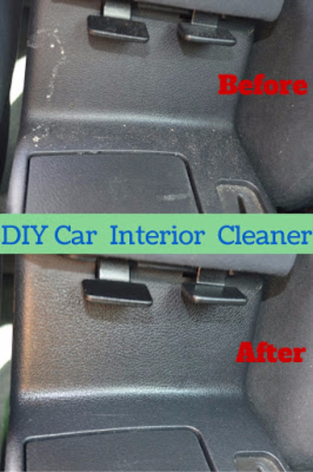 Clean Car Interior Diy