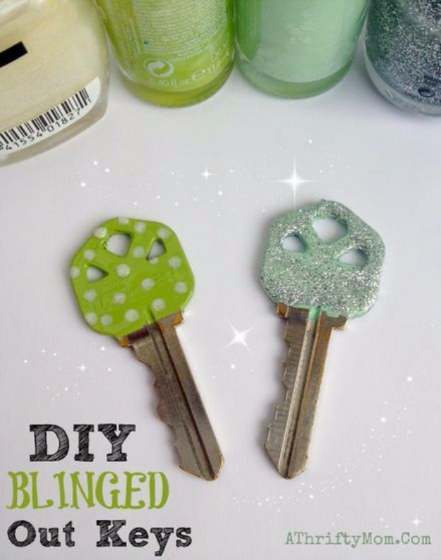 Diy Nail Polish Crafts Blinged Out Keys Easy And Craft Ideas For