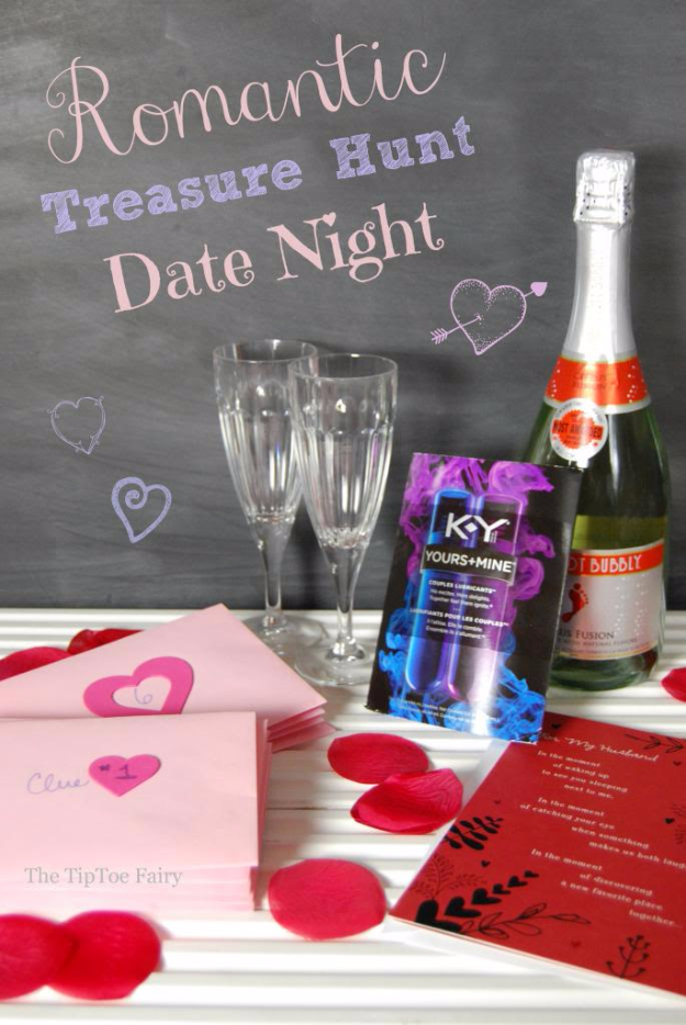 DIY Date Night Ideas - Date Night With A Romantic Treasure Hunt - Creative Ways to Go On Inexpensive Dates - Creative Ways for Couples to Spend Time Together - Cute Kits and Cool DIY Gift Ideas for Men and Women - Cheap Ways to Have Fun With Your Husbnad or Wife, Girlfriend or Boyfriend - Valentines Day Date Ideas http://diyjoy.com/diy-date-night-ideas