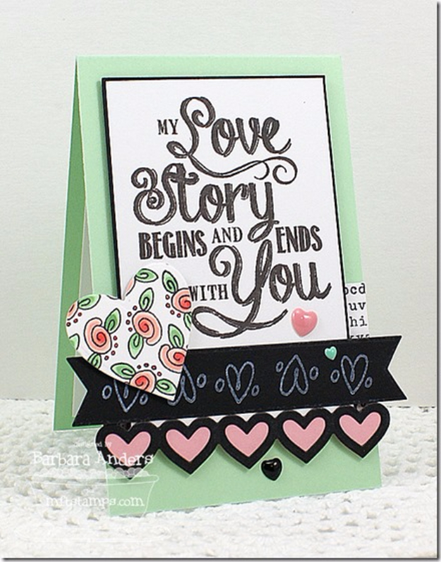 DIY Valentines Day Cards - My Love Story Card - Easy Handmade Cards for Him and Her, Kids, Freinds and Teens - Funny, Romantic, Printable Ideas for Making A Unique Homemade Valentine Card - Step by Step Tutorials and Instructions for Making Cute Valentine's Day Gifts http://diyjoy.com/diy-valentines-day-cards