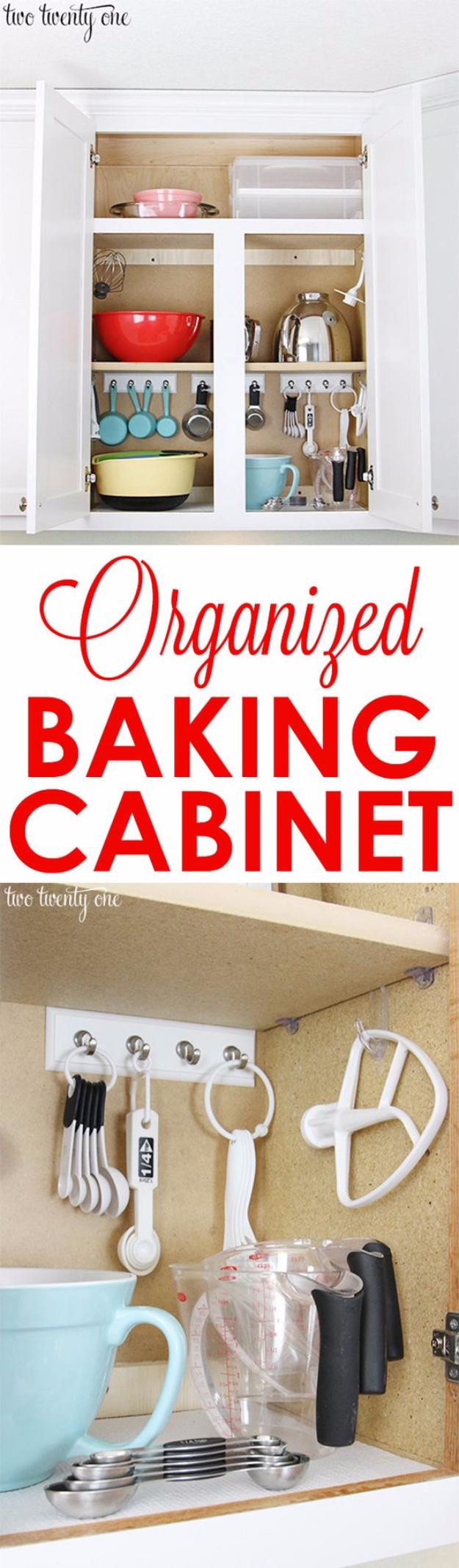 Best Organizing Ideas for the New Year - Organized Baking Cabinet - Resolutions for Getting Organized - DIY Organizing Projects for Home, Bedroom, Closet, Bath and Kitchen - Easy Ways to Organize Shoes, Clutter, Desk and Closets - DIY Projects and Crafts for Women and Men http://diyjoy.com/best-organizing-ideas