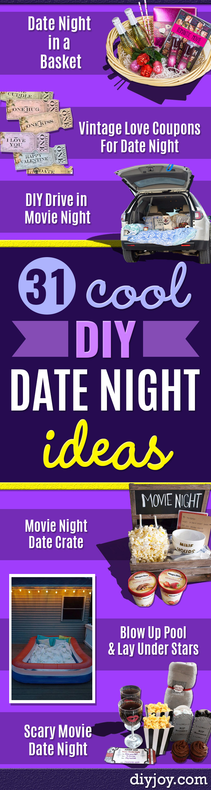 31 Brilliant Date Night Ideas You Can Act Like You Thought
