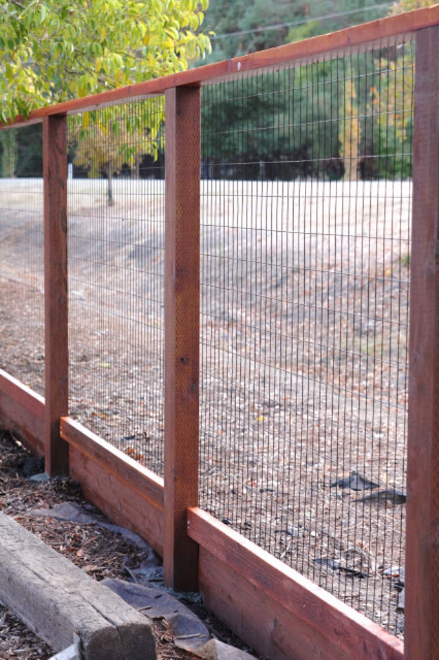 DIY Fences and Gates - Deer Fence - How To Make Easy Fence and Gate Project for Backyard and Home - Step by Step Tutorial and Ideas for Painting, Updating and Making Fences and DIY Gate - Cool Outdoors and Yard Projects http://diyjoy.com/diy-fences-gates