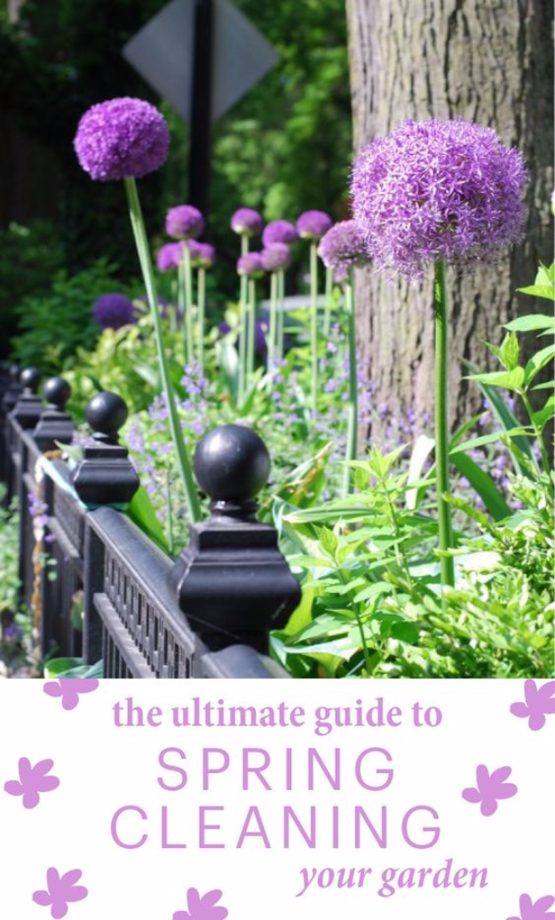 DIY Spring Gardening Projects - Guide To Spring Cleaning Your Garden - Cool and Easy Planting Tips for Spring Garden - Step by Step Tutorials for Growing Seeds, Plants, Vegetables and Flowers in You Yard - DIY Project Ideas for Women and Men - Creative and Quick Backyard Ideas For Summer http://diyjoy.com/diy-spring-gardening