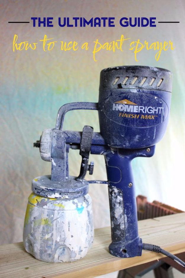 Spray Painting Tips and Tricks - Paint Sprayer Guide - Home Improvement Ideas and Tutorials for Spray Painting Furniture, House, Doors, Trim, Windows and Walls - Step by Step Tutorials and Best How To Instructions - DIY Projects and Crafts by DIY JOY http://diyjoy.com/spray-painting-tips-tricks
