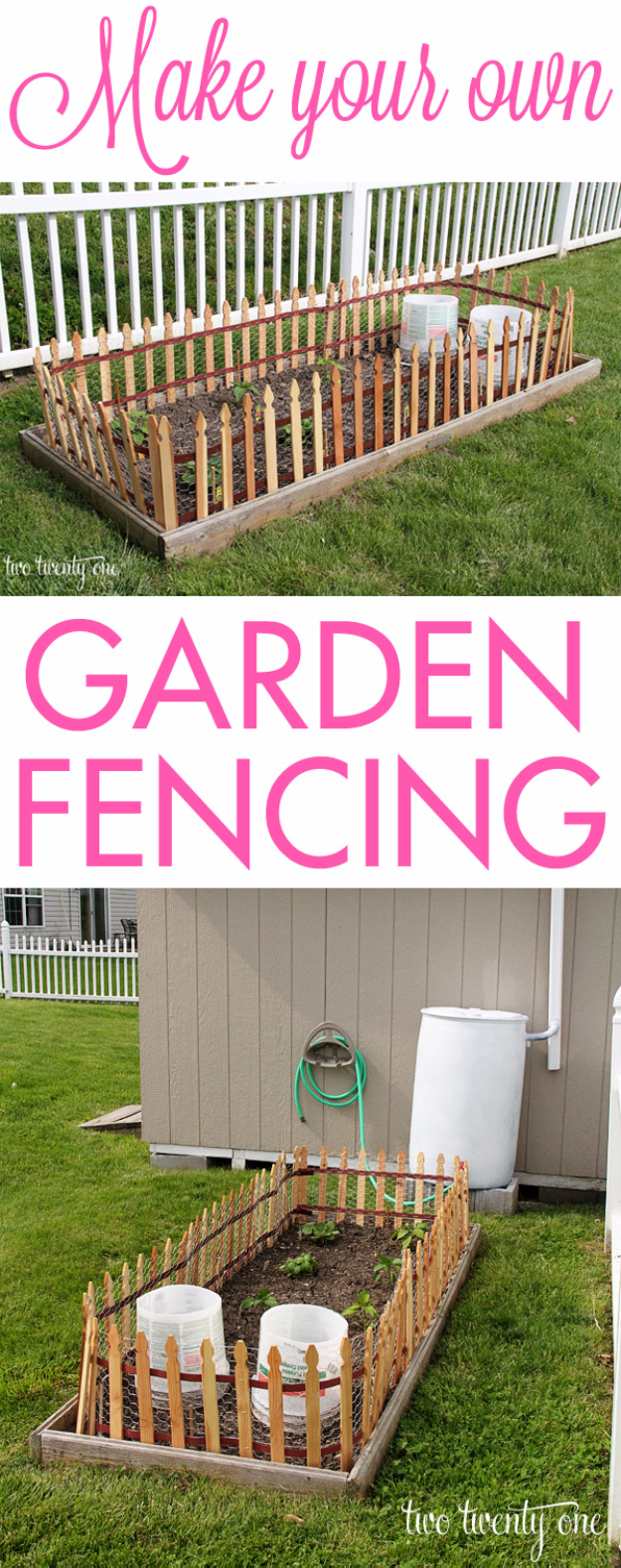 DIY Fences and Gates - Simple Garden Fence - How To Make Easy Fence and Gate Project for Backyard and Home - Step by Step Tutorial and Ideas for Painting, Updating and Making Fences and DIY Gate - Cool Outdoors and Yard Projects http://diyjoy.com/diy-fences-gates