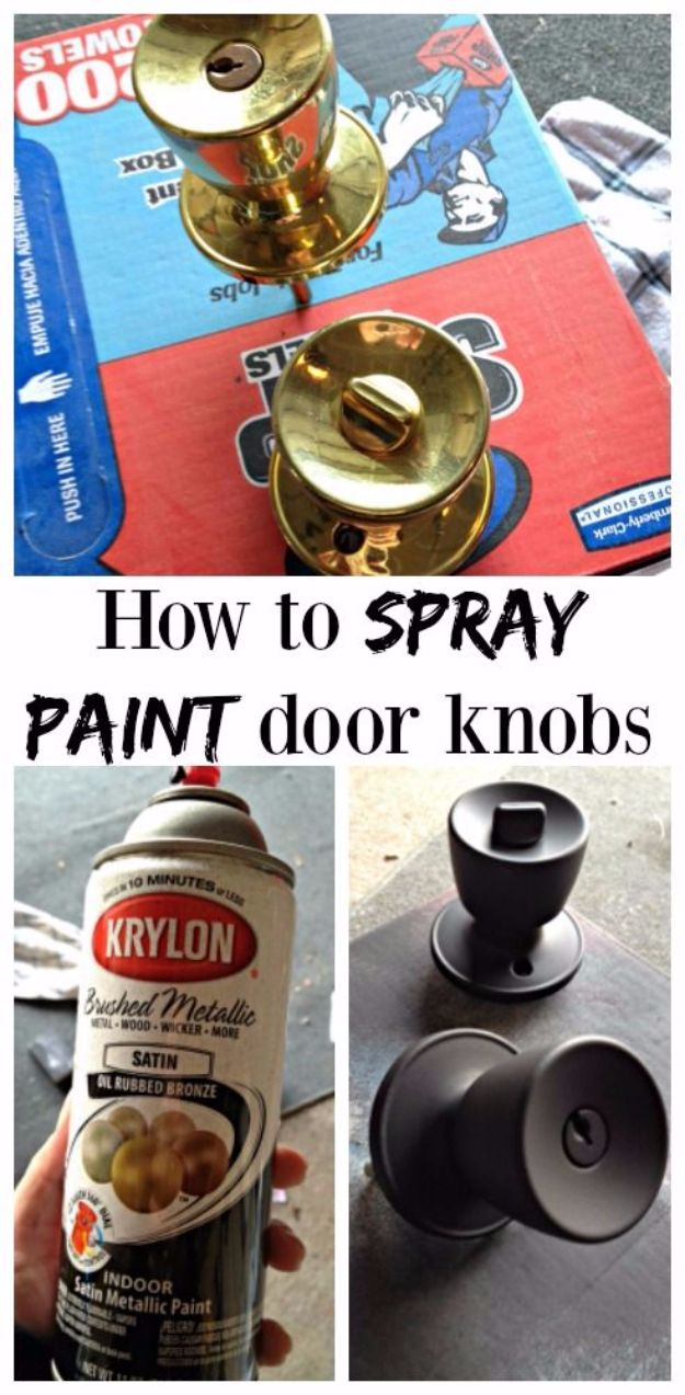 Spray Painting Tips and Tricks - Spray Painting Door Knobs - Home Improvement Ideas and Tutorials for Spray Painting Furniture, House, Doors, Trim, Windows and Walls - Step by Step Tutorials and Best How To Instructions - DIY Projects and Crafts by DIY JOY http://diyjoy.com/spray-painting-tips-tricks