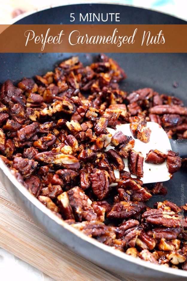Easy Snacks You Can Make In Minutes - 5-Minute Perfect Caramelized Nuts - Quick Recipes and Tricks for Making After Workout and After School Snack - Fast Ideas for Instant Small Meals and Treats - No Bake, Microwave and Simple Prep Makes Snacking Fun http://diyjoy.com/easy-snacks- recipes