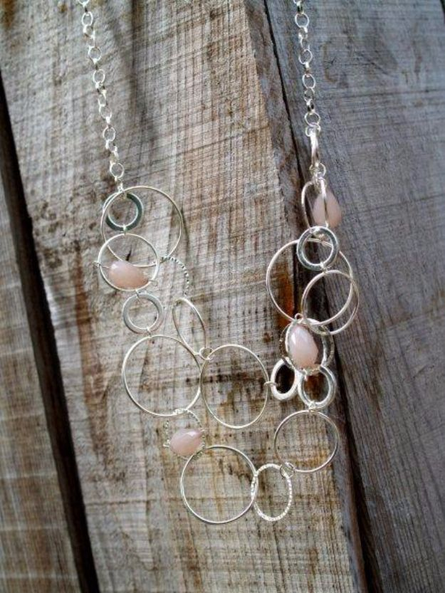 DIY Necklace Ideas - Anthropologie Inspired Sheperd Moon Necklace - Easy Handmade Necklaces with Step by Step Tutorials - Pendant, Beads, Statement, Choker, Layered Boho, Chain and Simple Looks - Creative Jewlery Making Ideas for Women and Teens, Girls - Crafts and Cool Fashion Ideas for Women, Teens and Teenagers http://diyjoy.com/diy-necklaces