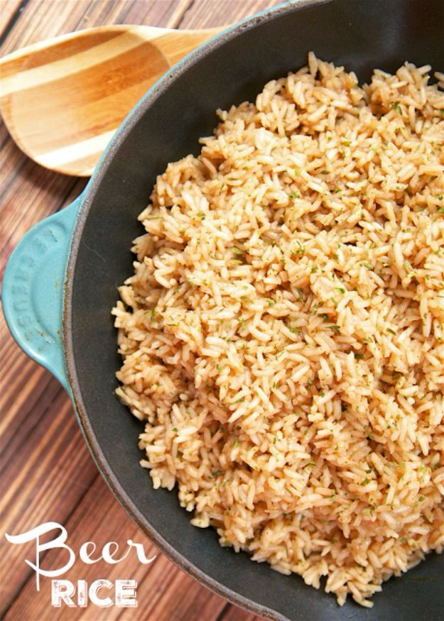 Best Rice Recipes - Beer Rice - Easy Ideas for Quick Meals Made From a Bag of Rice - Healthy Recipes With Brown, White and Arborio Rice - Cheesy, Fried, Asian, Mexican Flavored Dinner Dishes and Side Dishes - DIY Projects and Crafts by DIY JOY http://diyjoy.com/best-rice-recipes