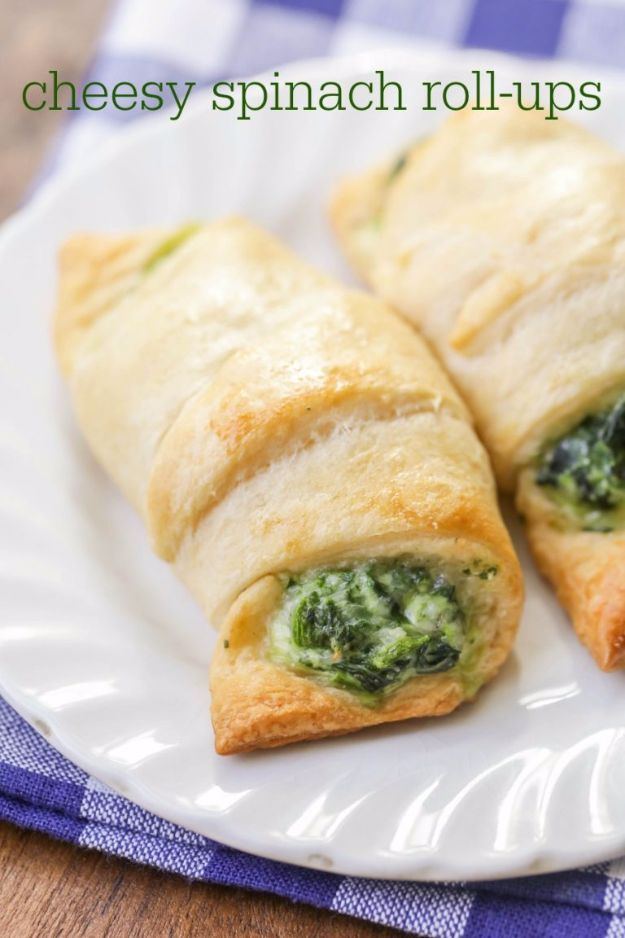 Best Easter Dinner Recipes - Cheesy Spinach Roll-Ups - Easy Recipe Ideas for Easter Dinners and Holiday Meals for Families - Side Dishes, Slow Cooker Recipe Tutorials, Main Courses, Traditional Meat, Vegetable and Dessert Ideas - Desserts, Pies, Cakes, Ham and Beef, Lamb - DIY Projects and Crafts by DIY JOY http://diyjoy.com/easter-dinner-recipes