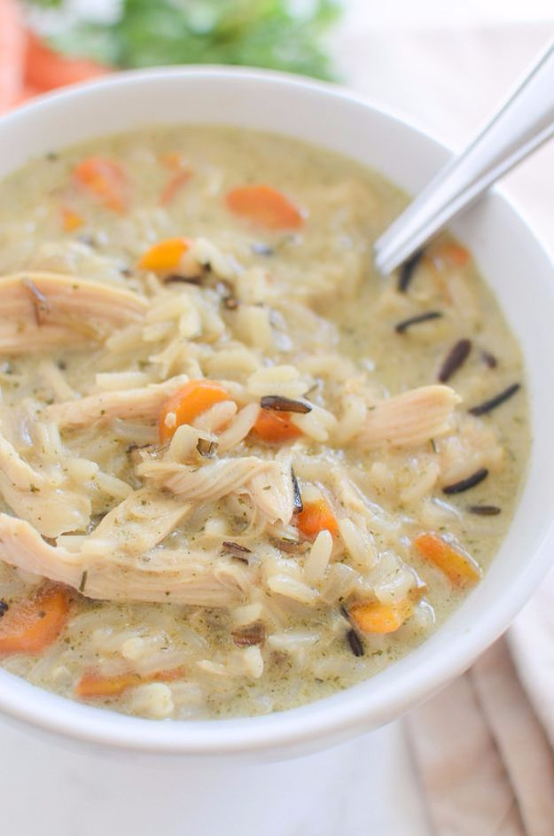 Best Rice Recipes - Chicken and Wild Rice Soup - Easy Ideas for Quick Meals Made From a Bag of Rice - Healthy Recipes With Brown, White and Arborio Rice - Cheesy, Fried, Asian, Mexican Flavored Dinner Dishes and Side Dishes - DIY Projects and Crafts by DIY JOY http://diyjoy.com/best-rice-recipes