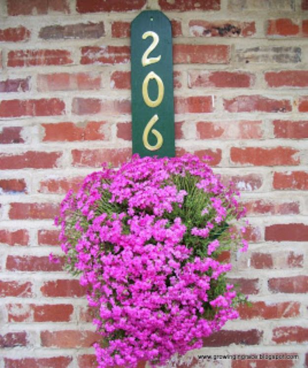 DIY House Numbers - DIY House Number Flower Hanger - DIY Numbers To Put In Front Yard and At Front Door - Architectural Numbers and Creative Do It Yourself Projects for Making House Numbers - Easy Step by Step Tutorials and Project Ideas for Home Improvement on A Budget http://diyjoy.com/diy-house-numbers