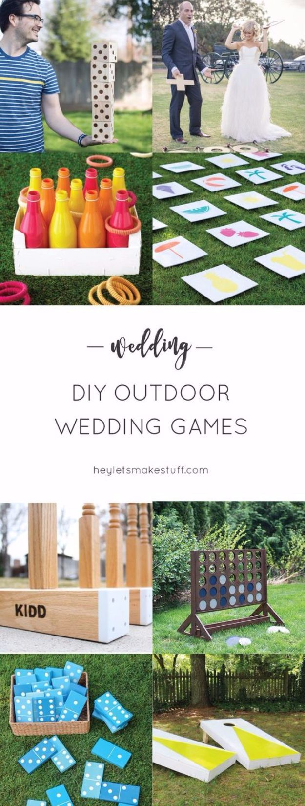 DIY Outdoors Wedding Ideas - DIY Outdoor Wedding Games - Step by Step Tutorials and Projects Ideas for Summer Brides - Lighting, Mason Jar Centerpieces, Table Decor, Party Favors, Guestbook Ideas, Signs, Flowers, Banners, Tablecloth and Runners, Napkins, Seating and Lights - Cheap and Ideas DIY Decor for Weddings http://diyjoy.com/diy-outdoor-wedding