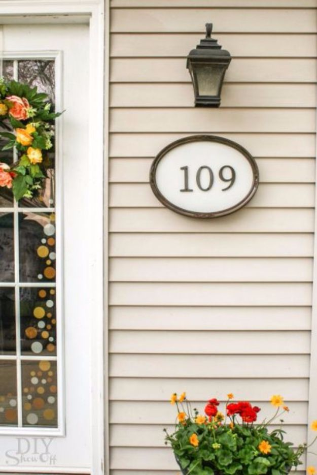 DIY House Numbers - DIY Simple House Number Sign - DIY Numbers To Put In Front Yard and At Front Door - Architectural Numbers and Creative Do It Yourself Projects for Making House Numbers - Easy Step by Step Tutorials and Project Ideas for Home Improvement on A Budget http://diyjoy.com/diy-house-numbers