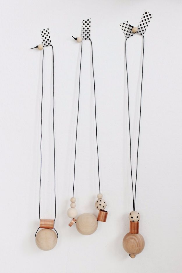 DIY Necklace Ideas - DIY Wood Copper Necklace - Easy Handmade Necklaces with Step by Step Tutorials - Pendant, Beads, Statement, Choker, Layered Boho, Chain and Simple Looks - Creative Jewlery Making Ideas for Women and Teens, Girls - Crafts and Cool Fashion Ideas for Women, Teens and Teenagers http://diyjoy.com/diy-necklaces