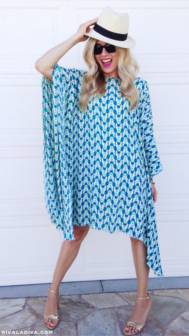 DIY Dresses to Sew for Summer - Easy Caftan Dress - Best Free Patterns For Dress Ideas - Easy and Cheap Clothes to Make for Women and Teens - Step by Step Sewing Projects - Short, Summer, Winter, Fall, Inexpensive DIY Fashion http://diyjoy.com/sewing-dresses-patterns-summer
