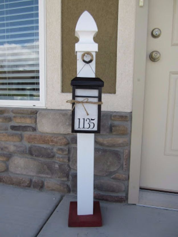 DIY House Numbers - Light Up House Number - DIY Numbers To Put In Front Yard and At Front Door - Architectural Numbers and Creative Do It Yourself Projects for Making House Numbers - Easy Step by Step Tutorials and Project Ideas for Home Improvement on A Budget http://diyjoy.com/diy-house-numbers
