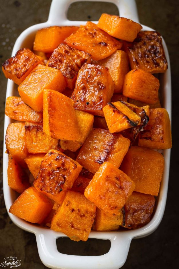 Best Easter Dinner Recipes - Maple Cinnamon Roasted Butternut Squash - Easy Recipe Ideas for Easter Dinners and Holiday Meals for Families - Side Dishes, Slow Cooker Recipe Tutorials, Main Courses, Traditional Meat, Vegetable and Dessert Ideas - Desserts, Pies, Cakes, Ham and Beef, Lamb - DIY Projects and Crafts by DIY JOY http://diyjoy.com/easter-dinner-recipes