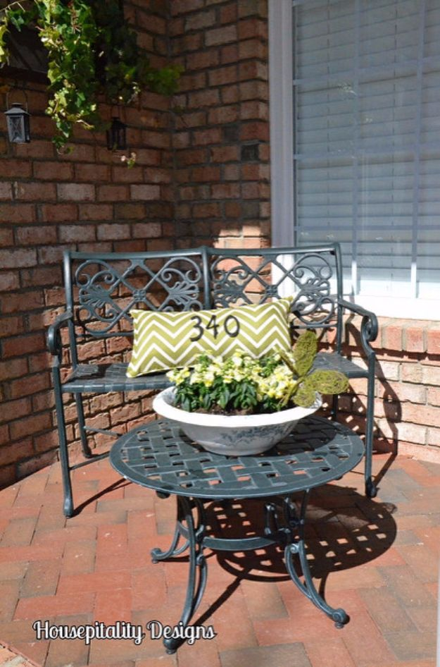 DIY House Numbers - Pillow House Number - DIY Numbers To Put In Front Yard and At Front Door - Architectural Numbers and Creative Do It Yourself Projects for Making House Numbers - Easy Step by Step Tutorials and Project Ideas for Home Improvement on A Budget http://diyjoy.com/diy-house-numbers