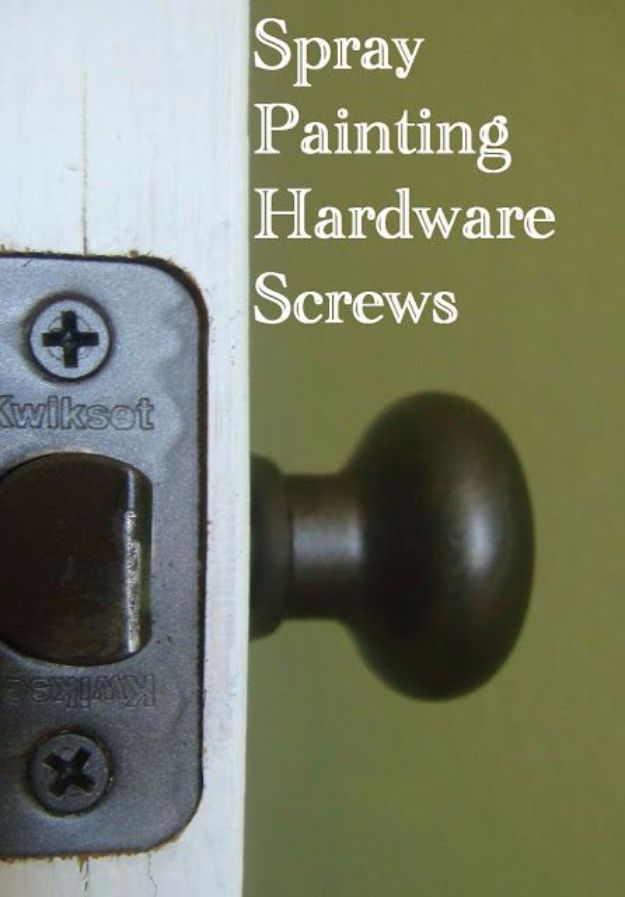 Spray Painting Tips and Tricks - Spray Painting Hardware Screws - Home Improvement Ideas and Tutorials for Spray Painting Furniture, House, Doors, Trim, Windows and Walls - Step by Step Tutorials and Best How To Instructions - DIY Projects and Crafts by DIY JOY http://diyjoy.com/spray-painting-tips-tricks