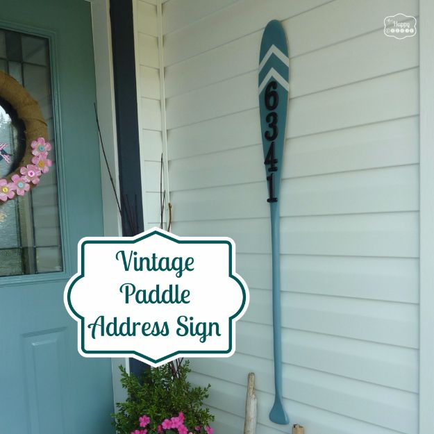 DIY House Numbers - Vintage Paddle Address Sign - DIY Numbers To Put In Front Yard and At Front Door - Architectural Numbers and Creative Do It Yourself Projects for Making House Numbers - Easy Step by Step Tutorials and Project Ideas for Home Improvement on A Budget http://diyjoy.com/diy-house-numbers
