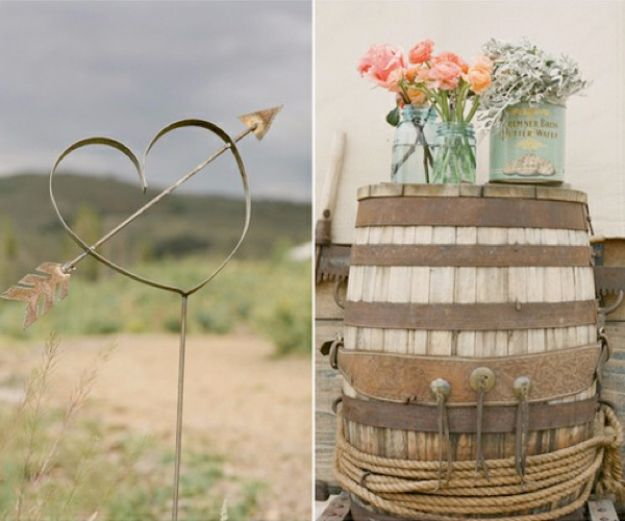 DIY Outdoors Wedding Ideas - Wine Barrel Wedding Decor - Step by Step Tutorials and Projects Ideas for Summer Brides - Lighting, Mason Jar Centerpieces, Table Decor, Party Favors, Guestbook Ideas, Signs, Flowers, Banners, Tablecloth and Runners, Napkins, Seating and Lights - Cheap and Ideas DIY Decor for Weddings http://diyjoy.com/diy-outdoor-wedding
