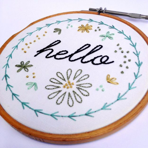 Free Embroidery Patterns - Basic Hand Embroidery - Best Embroidery Projects and Step by Step DIY Tutorials for Making Home Decor, Wall Art, Pillows and Creative Handmade Sewing Gifts - Machine Ideas and Hand Sewn Ideas for Beginners - Quotes, Modern Art, Flowers, Christmas Decor, Kitchen Towels and Easy Applique Designs http://diyjoy.com/free-embroidery-patterns