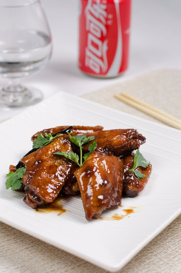 Best Coca Cola Recipes - Braised Coca-Cola Chicken Wings - Make Awesome Coke Chicken, Coca Cola Cake, Meatballs, Sodas, Drinks, Sweets, Dinners, Meat, Slow Cooker and Recipe Ideas With Cake Mixes - Fun Food Projects For Families and Parties With Step By Step Tutorials http://diyjoy.com/coca-cola-recipes