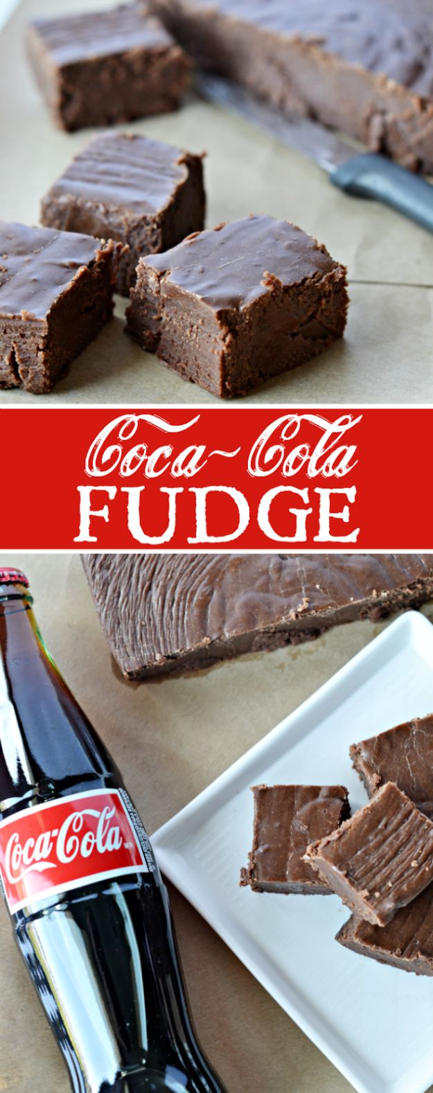 Best Coca Cola Recipes - Coca Cola Fudge - Make Awesome Coke Chicken, Coca Cola Cake, Meatballs, Sodas, Drinks, Sweets, Dinners, Meat, Slow Cooker and Recipe Ideas With Cake Mixes - Fun Food Projects For Families and Parties With Step By Step Tutorials http://diyjoy.com/coca-cola-recipes