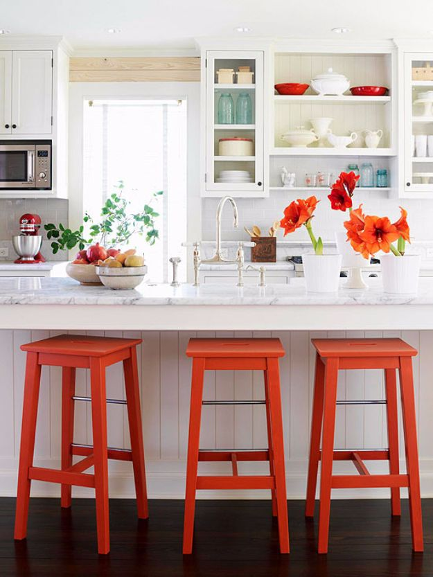 DIY Barstools - DIY Bar Stools With Metal Accents - Easy and Cheap Ideas for Seating and Creative Home Decor - Do It Yourself Bar Stools for Modern, Rustic, Farmhouse, Shabby Chic, Industrial and Simple Classic Decor - Do It Yourself Dining Room Seating Complete With Step by Step Tutorials http://diyjoy.com/diy-barstools